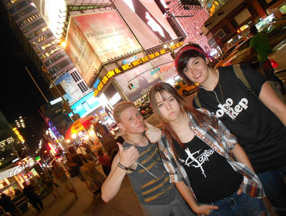 Living the life in Times Square.