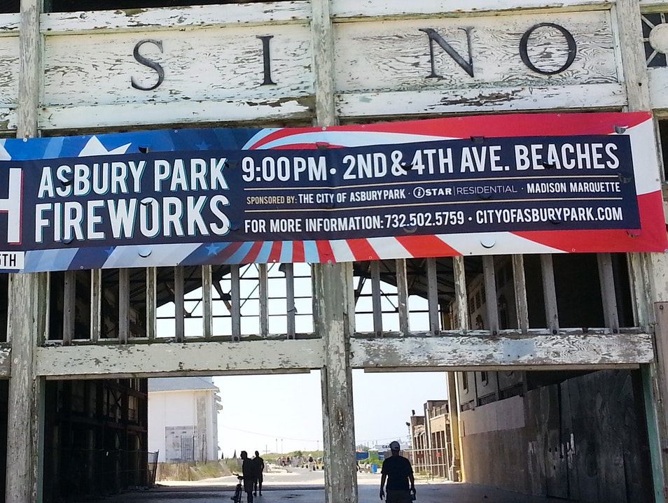 Fourth of July Fireworks Asbury Park New Jersey United States