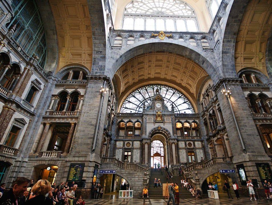Visit Antwerp's Beautiful Train Station Antwerp  Belgium