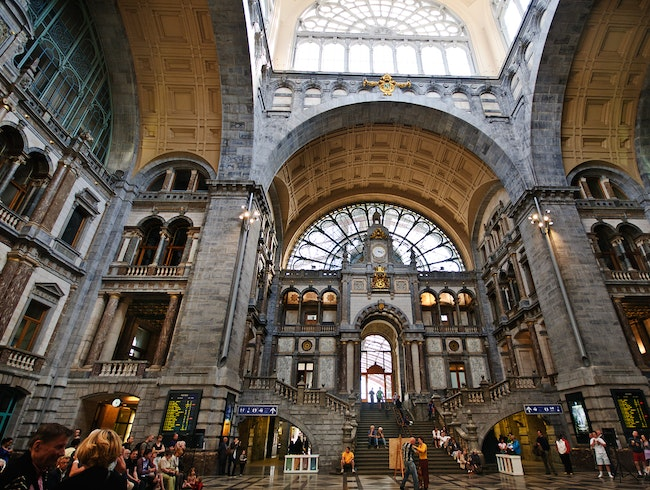 Visit Antwerp's Beautiful Train Station