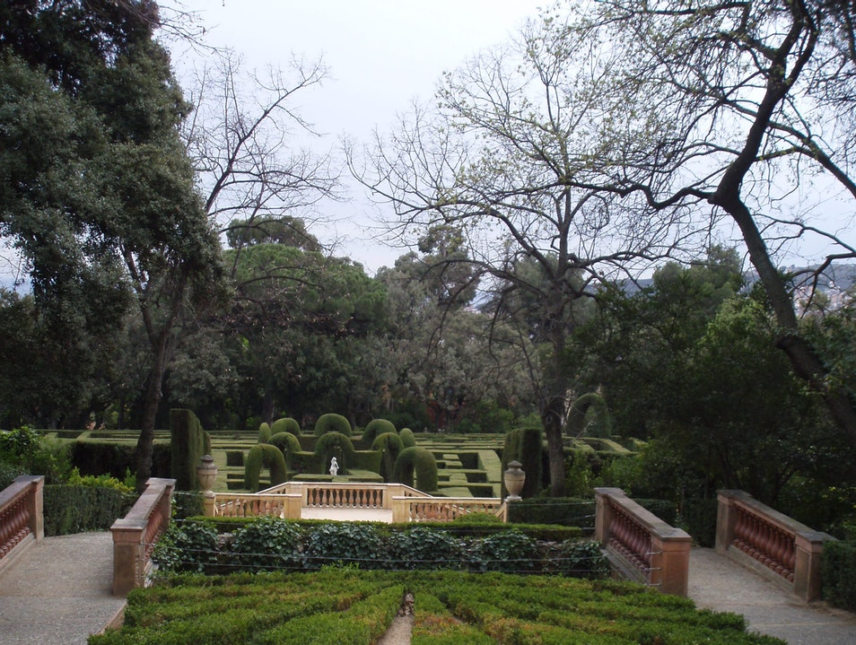 Laberint d'Horta - A cypress tree maze Barcelona  Spain