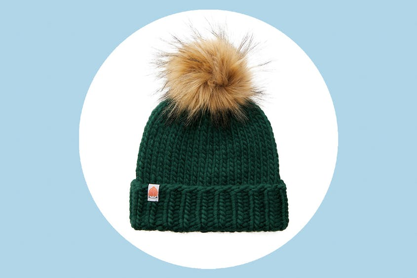 This beanie is available in 13 colors, including the forest green seen here.