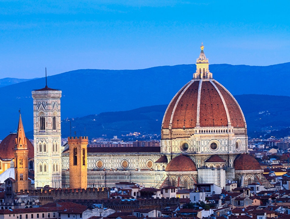 Beautiful Florence from Piazzale Michelangelo Florence  Italy
