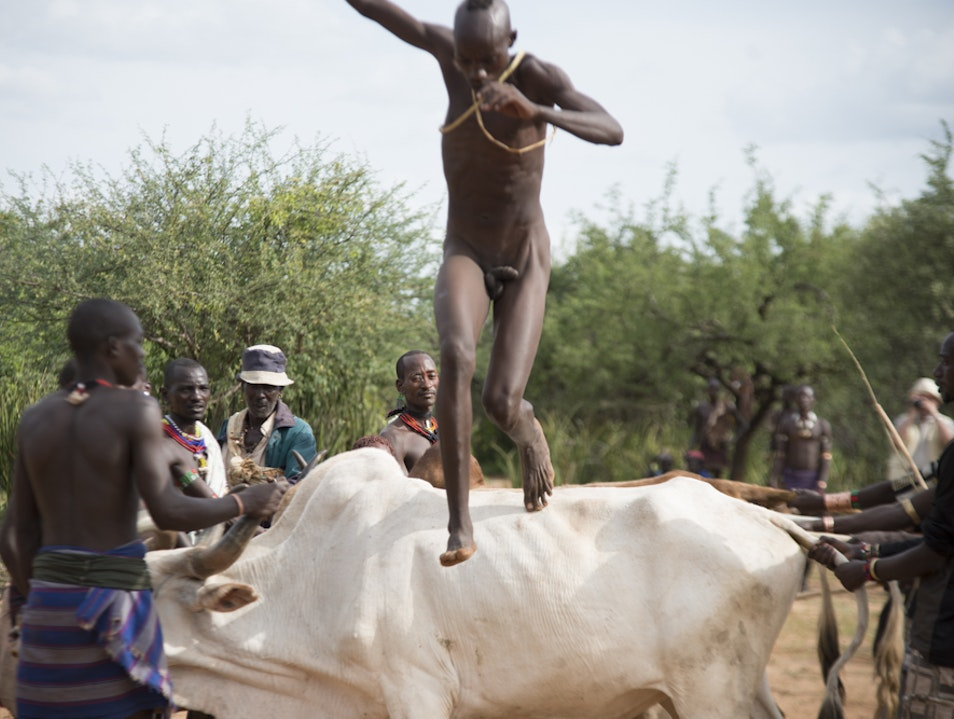 Jumping of the Bull Omo  Ethiopia