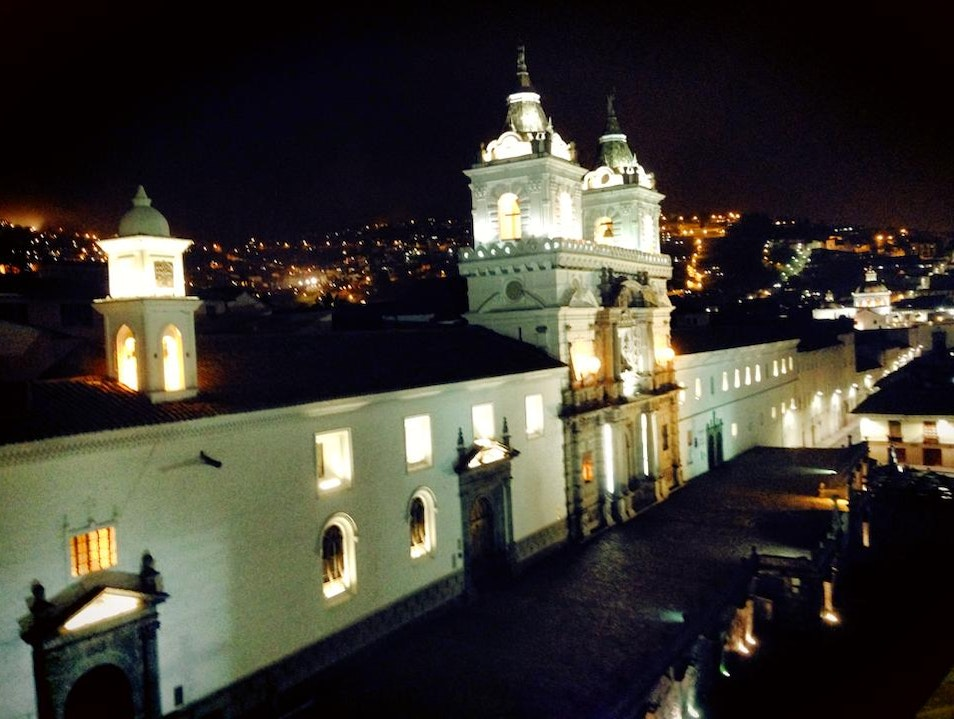 Best view of Plaza San Francisco Quito  Ecuador