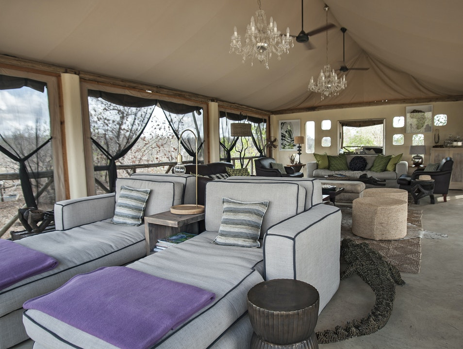 The day beds on the Upper Deck at Azura Selous