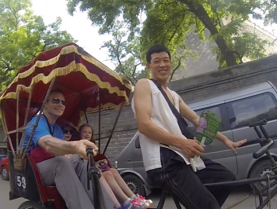 Take a Ride in a Pedi-Rickshaw Beijing  China