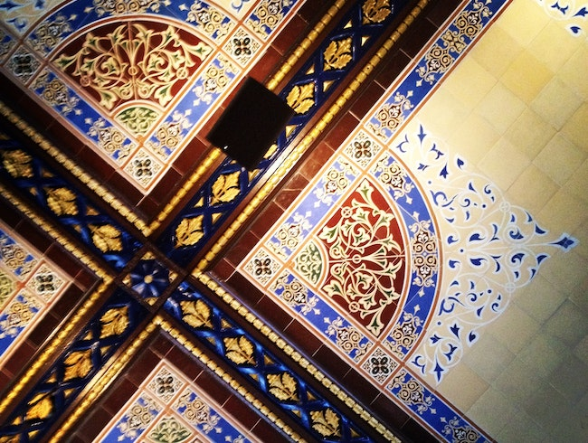 The restored ceiling