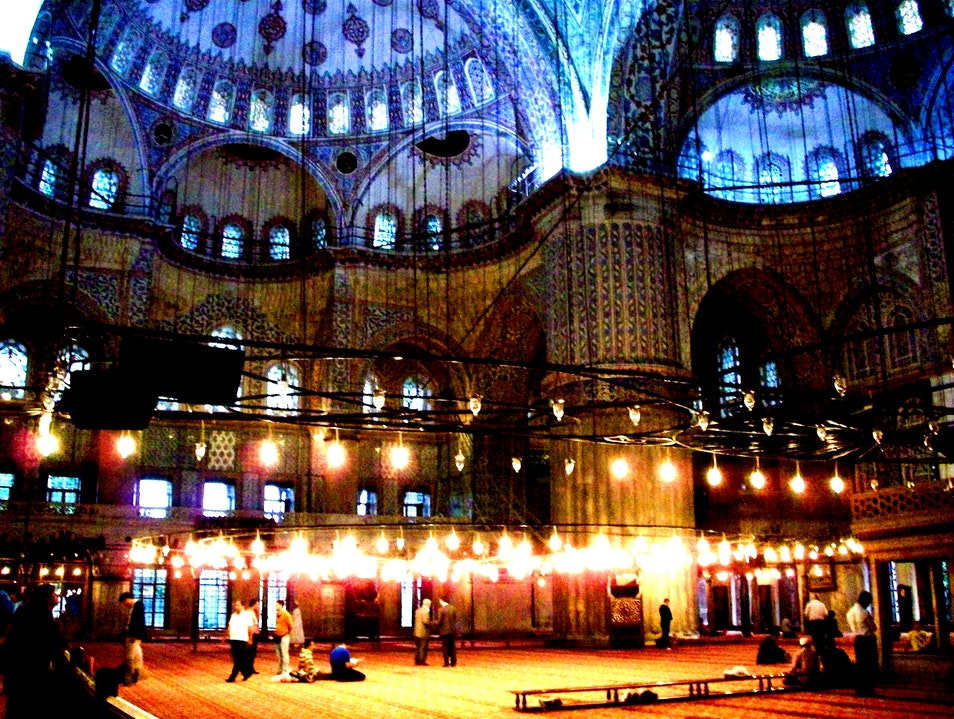 Overcome by The Blue Mosque Istanbul  Turkey