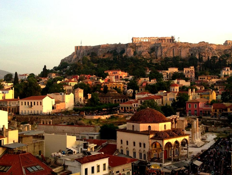 The View from Bar 360 Athens  Greece