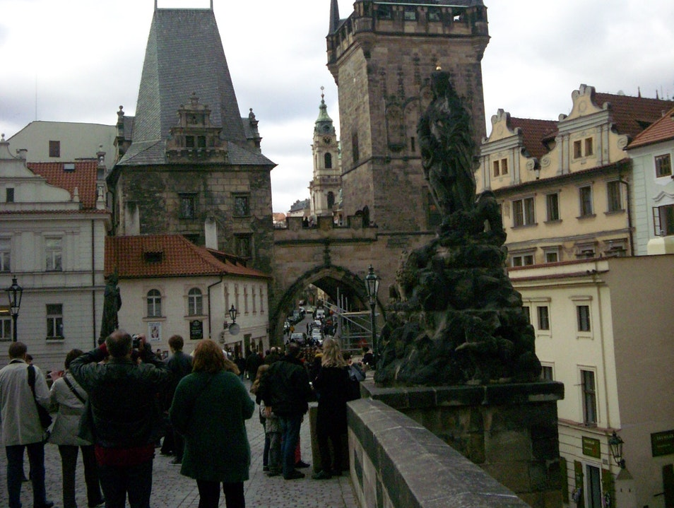 Go statue-hunting on Charles Bridge Prague  Czechia
