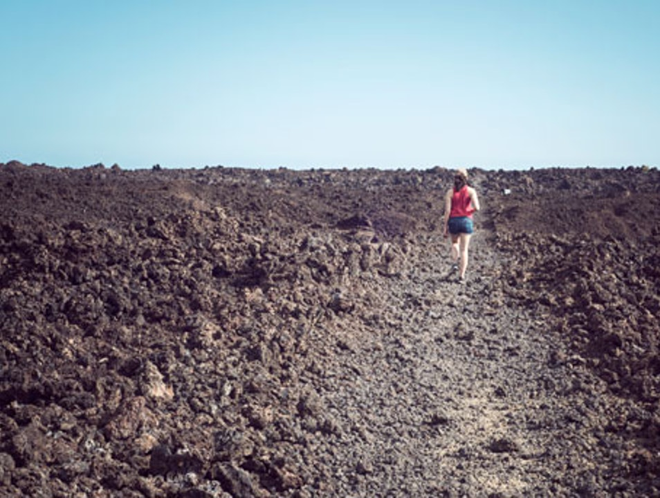 Hiking the Lava Fields at La Perouse Bay Kihei Hawaii United States