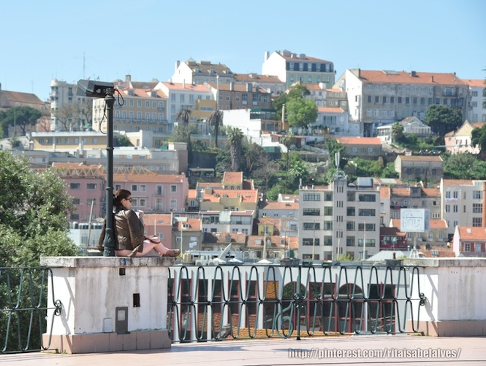A Garden, Esplanade, and View over Lisbon Lisboa  Portugal