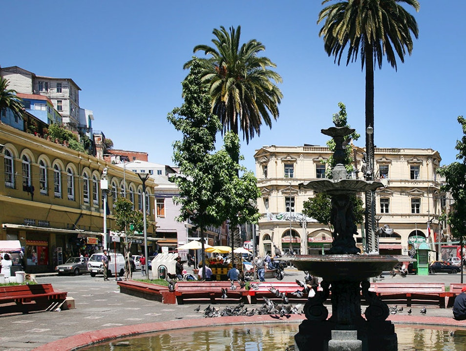 Plaza Echaurren and Serrano Street Valparaiso  Chile