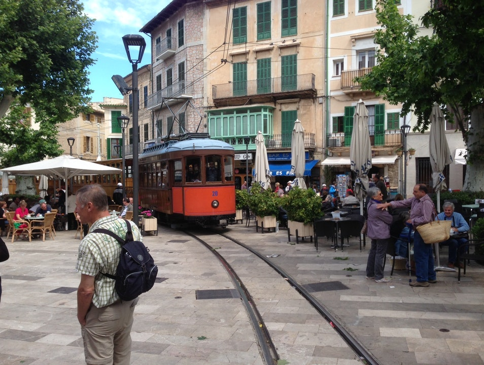 Tram from Soller to Port de Soller Sóller  Spain