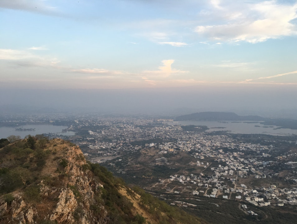 The View from Monsoon Palace Udaipur  India