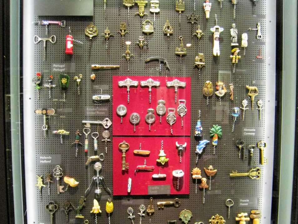 A sample of the more than 3000 corkscrews at the Museum's collection