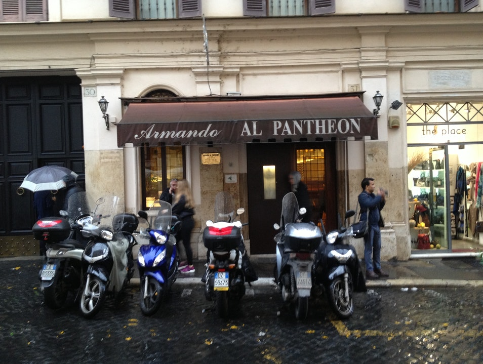 Classic Italian Near the Pantheon Rome  Italy