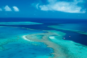 Fly Over the Great Barrier Reef