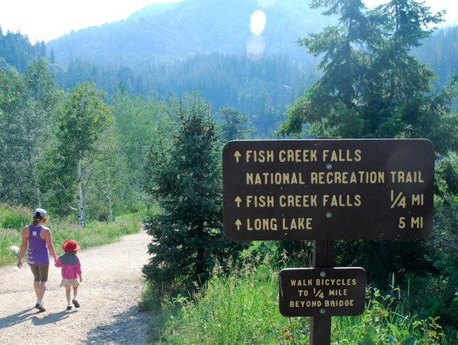 Fish Creek Falls is an easy hike, close to downtown Steamboat Springs