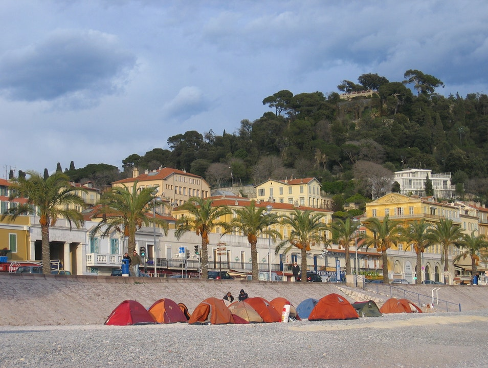 Tents on the Baie des Anges