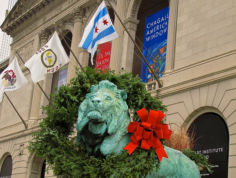 The Lions of Chicago's Art Institute Chicago Illinois United States
