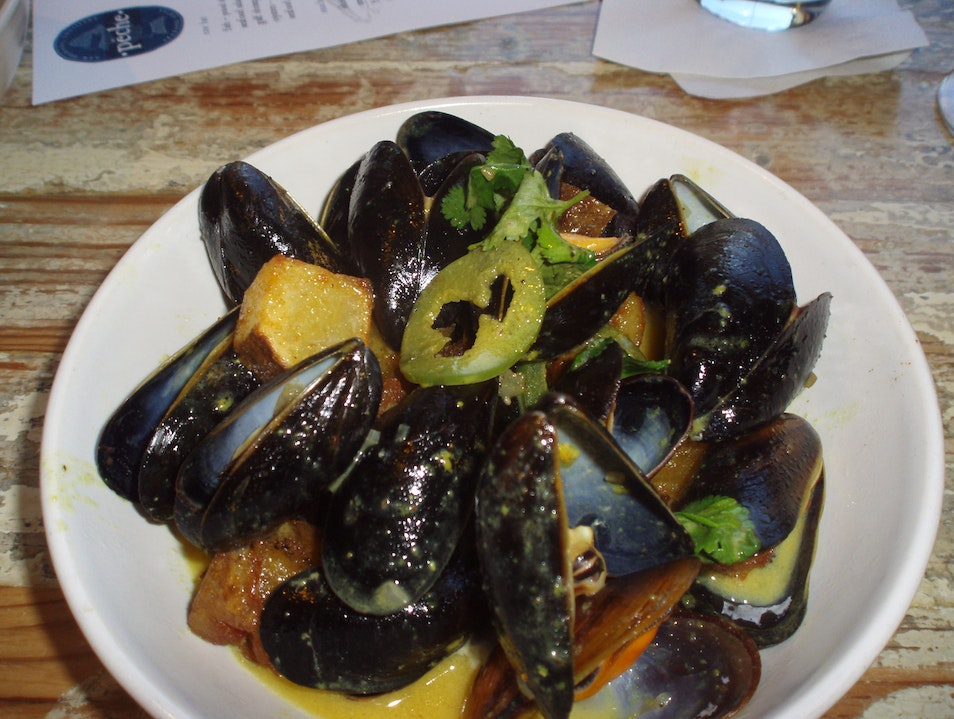 Luscious Mussels in Green Curry Sacue  New Orleans Louisiana United States