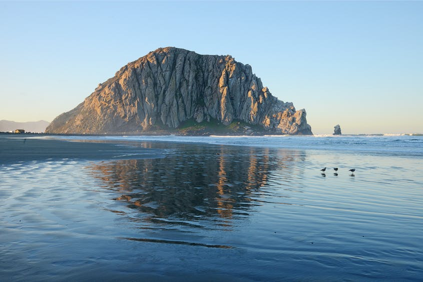 Morro Bay, about 45 minutes south of Hearst Castle, is yet another scenic place to stop along the California coast.