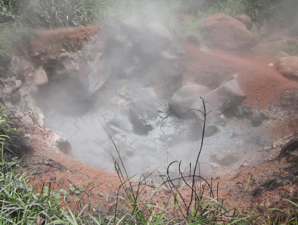 A steaming, churning fumarole to experience the awe of a volcano. Liberia  Costa Rica