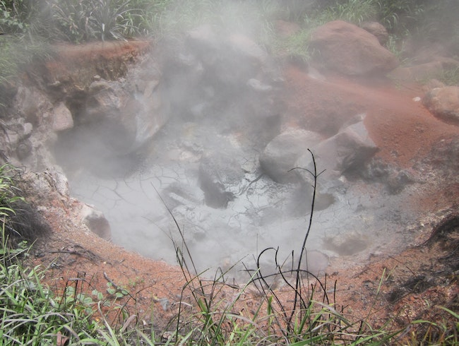 A steaming, churning fumarole to experience the awe of a volcano.