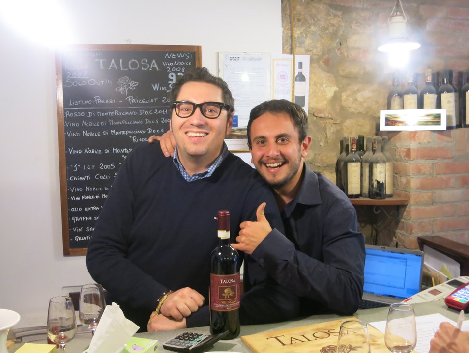 A Very Friendly Tasting Room in Tuscany Montepulciano  Italy