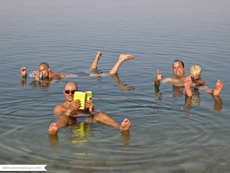 Floating in the Dead Sea  Tamar  Israel