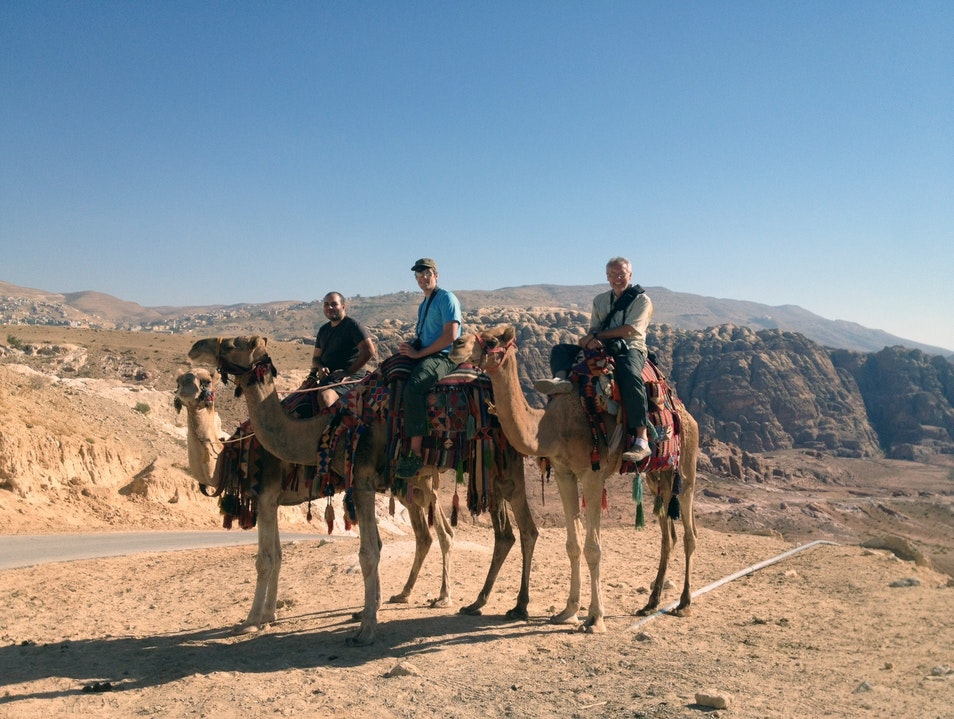 The conclusion of our camel ride Ma'an  Jordan