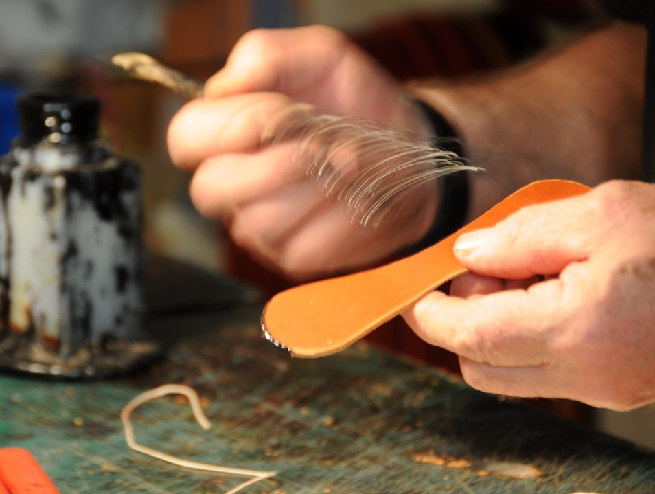 Tuscan Leatherworker Pienza  Italy