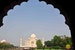 View of the Taj Mahal from the front gates