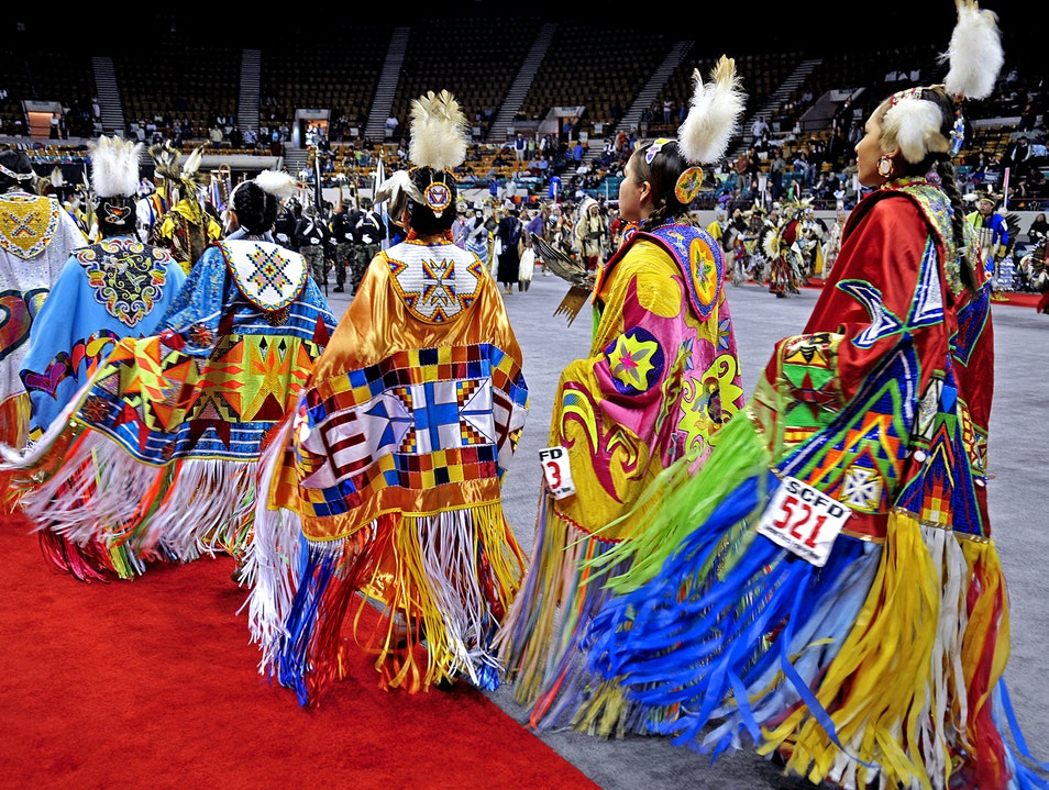 Native Dancers from Nearly 100 Tribes Denver Colorado United States