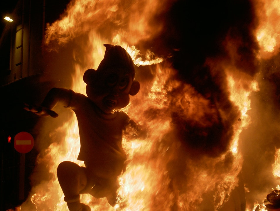 Watch It All Burn at Las Fallas Valencia  Spain