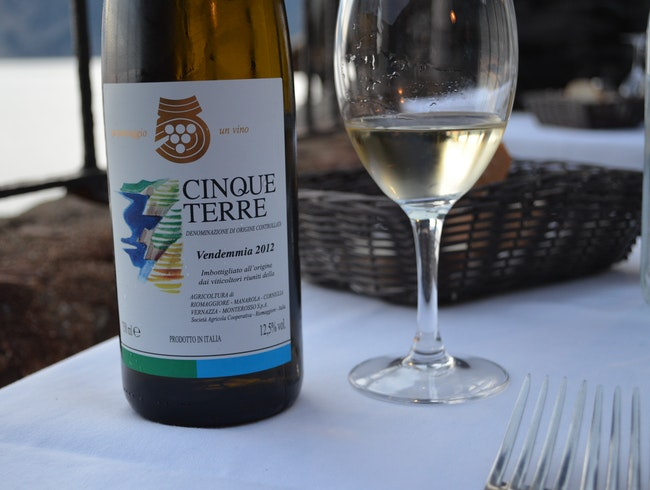Enjoy a Ligurian white on the Ligurian Sea
