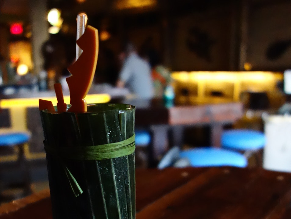 An authentic tiki bar for rum cocktails and more