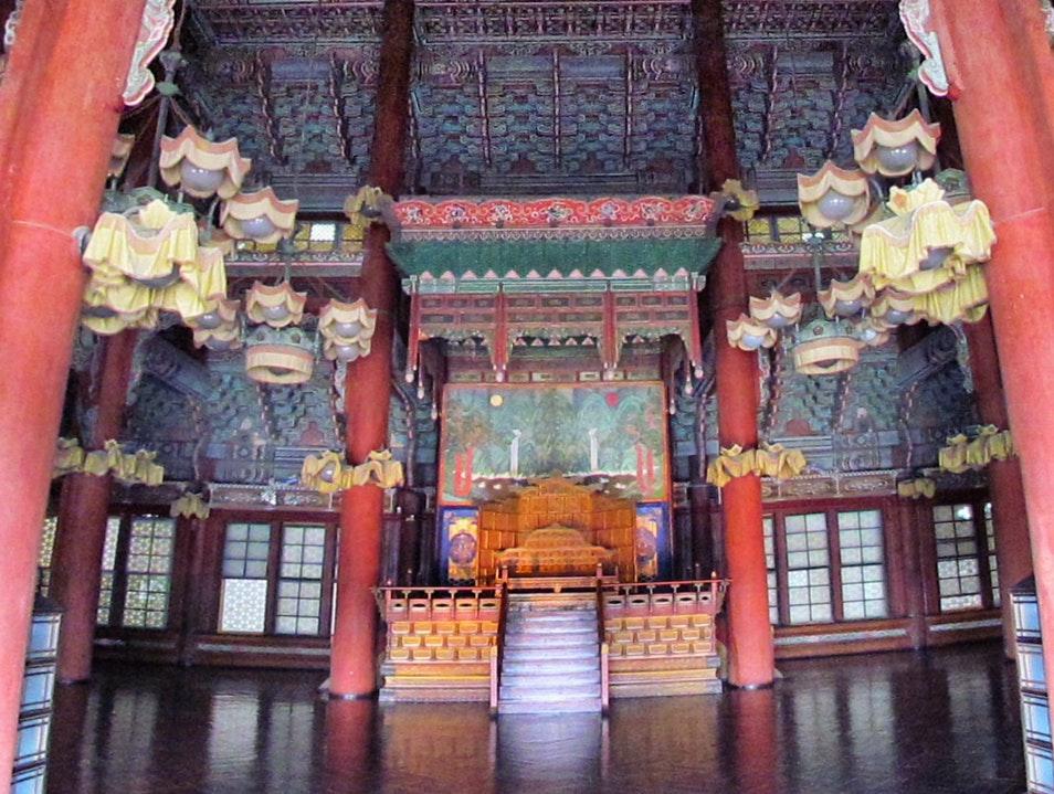 "Inside ""The Hall of Benevolent Administration"" Seoul  South Korea"