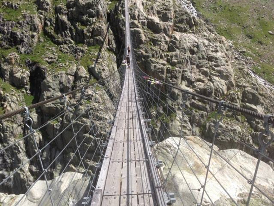Tackle One of the Longest Suspension Bridges in the Alps Gadmen  Switzerland
