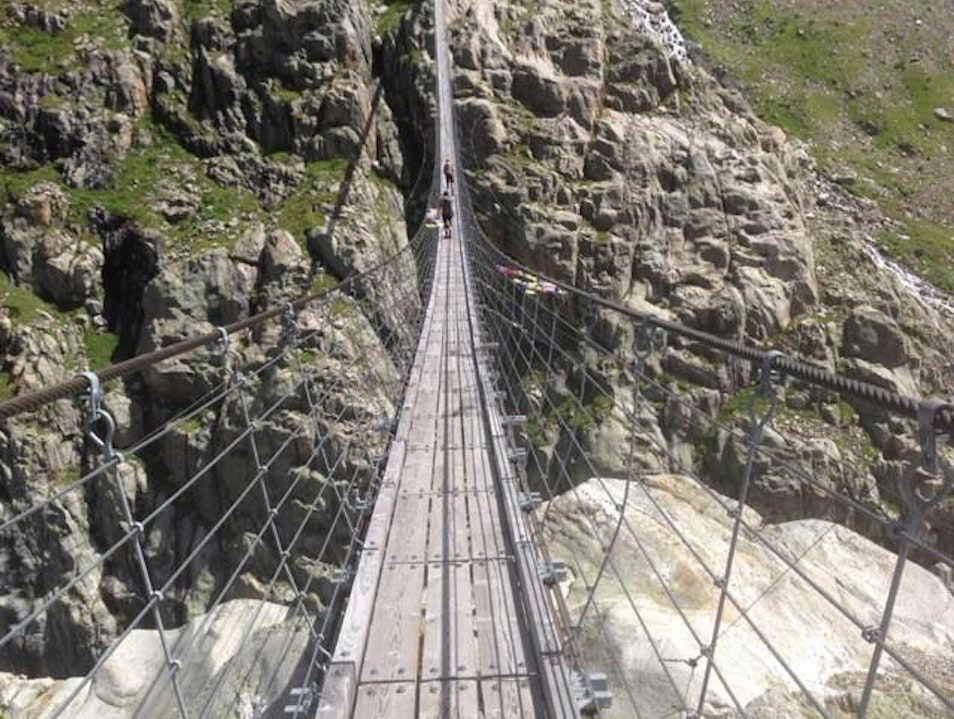 Tackle One of the Longest Suspension Bridges in the Alps