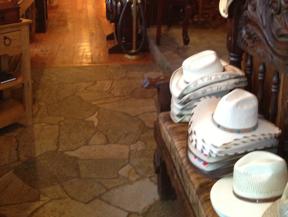 Buy a real cowboy hat at Telluride's leather store Cahone Colorado United States