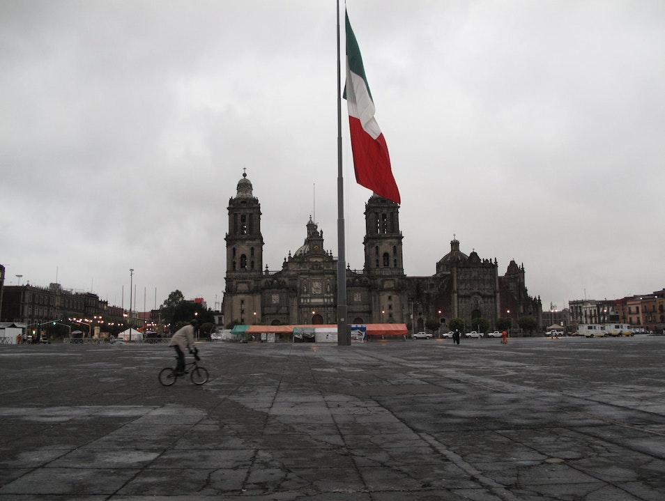 Things Great and Small at Mexico City's Plaza Mayor Mexico City  Mexico