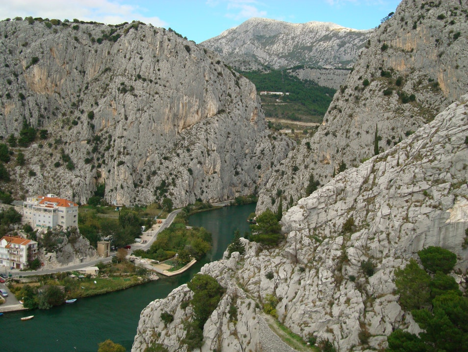 View from the fortress Omiš  Croatia