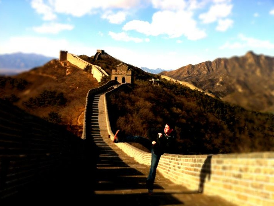 Afternoon stroll on the Great Wall Beijing  China