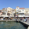 Old Venetian Harbour Chania  Greece