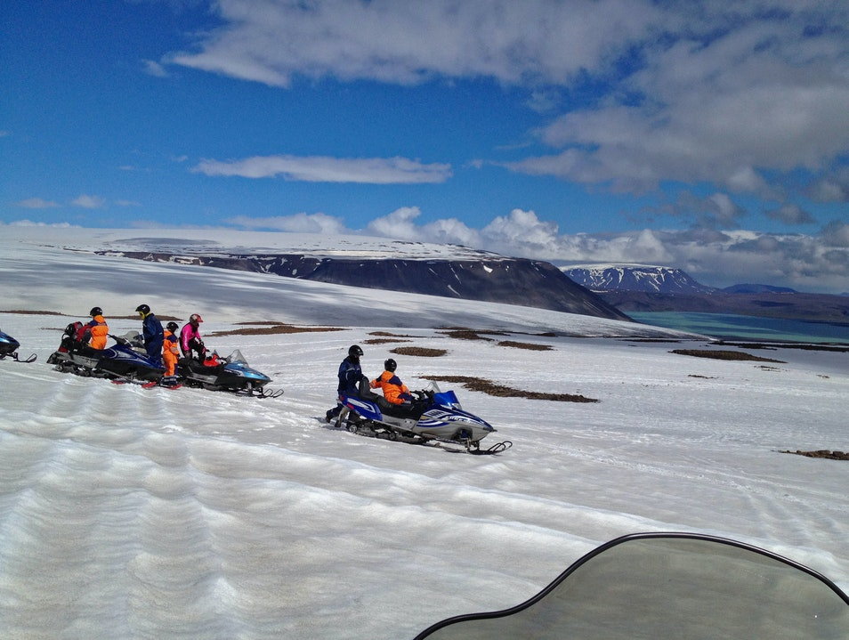 Snowmobiling on a Sunny Day