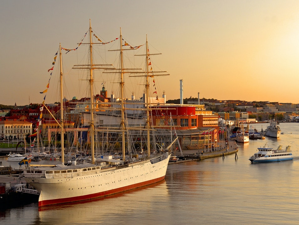Gothenburg Harbor and the Opera  Gothenburg  Sweden