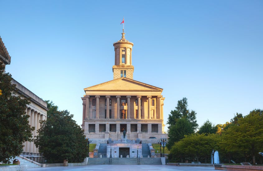 The State Capitol Building in Nashville marks the end of this road (trip).